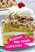 Delicious Pina Colada Layer Cake
