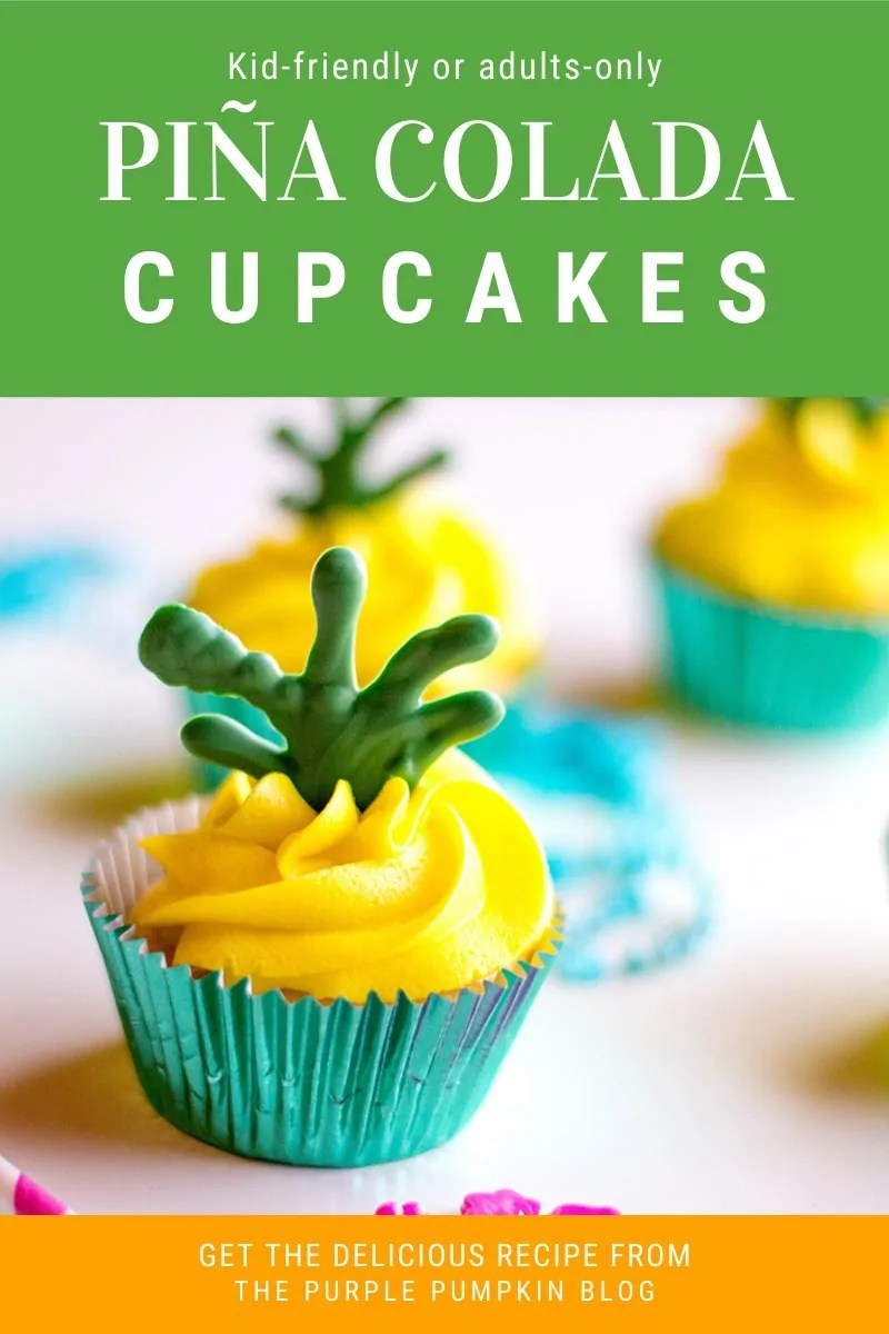 Kid-Friendly or Adults-Only Pina Colada Cupcakes