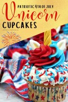 Patriotic 4th of July Unicorn Cupcakes