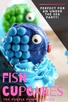 Perfect for an Under the Sea Party - Fish Cupcakes