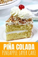 Pina Colada Pineapple Layer Cake