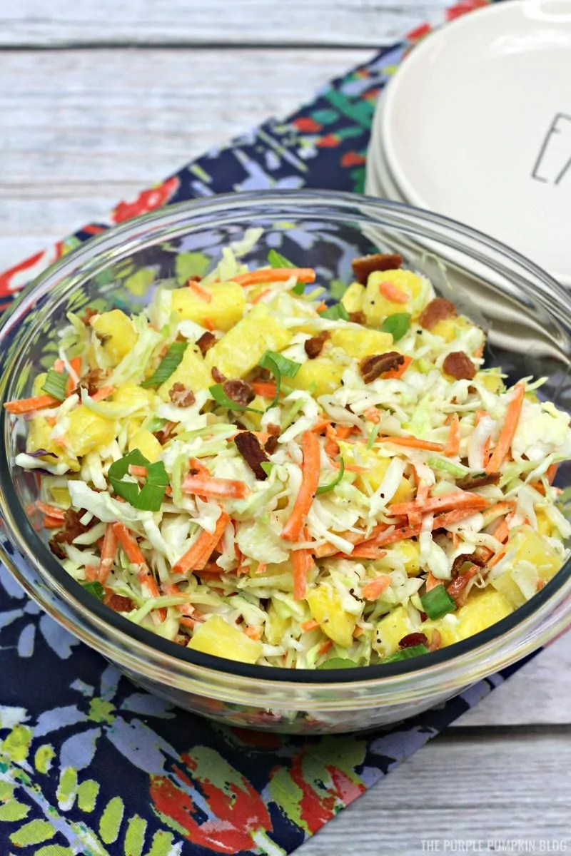 Pineapple Coleslaw with Crumbled Bacon