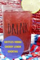 Skittles Vodka Lemon Cocktail