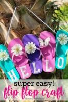 Super Easy Flip Flop Craft