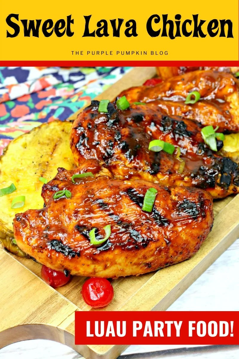 Sweet Lava Chicken - Luau Party Food!