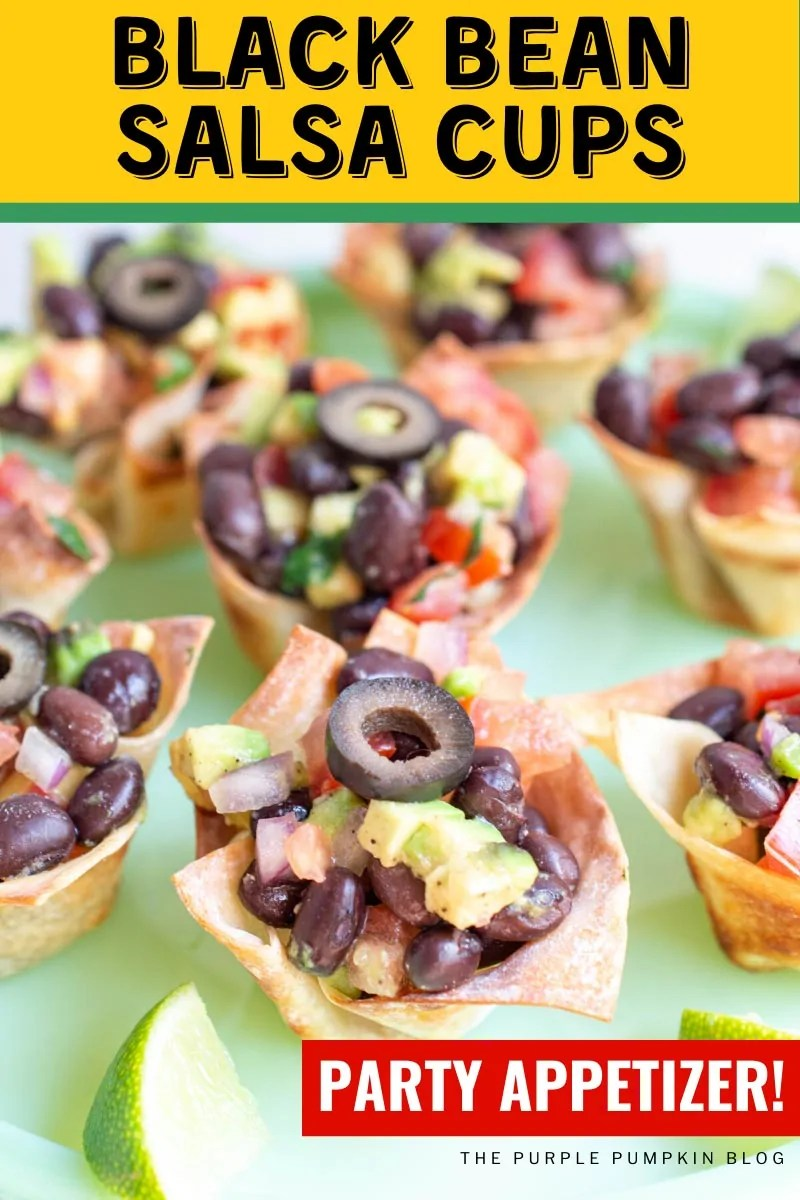 Black Bean Salsa Cups Party Appetizer!