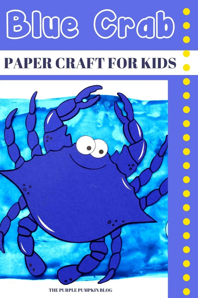 Blue Crab Paper Craft for Kids