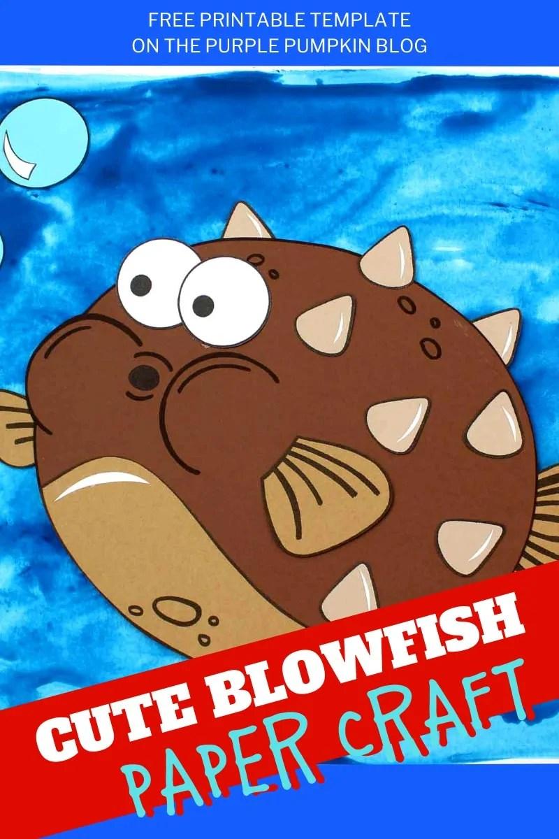 Cute Blowfish Paper Craft