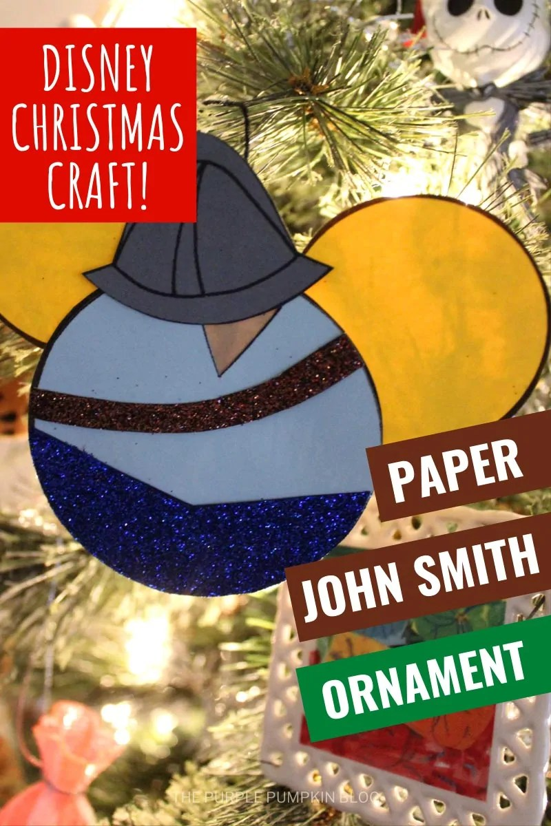 Disney Christmas Craft - Paper John Smith Ornament