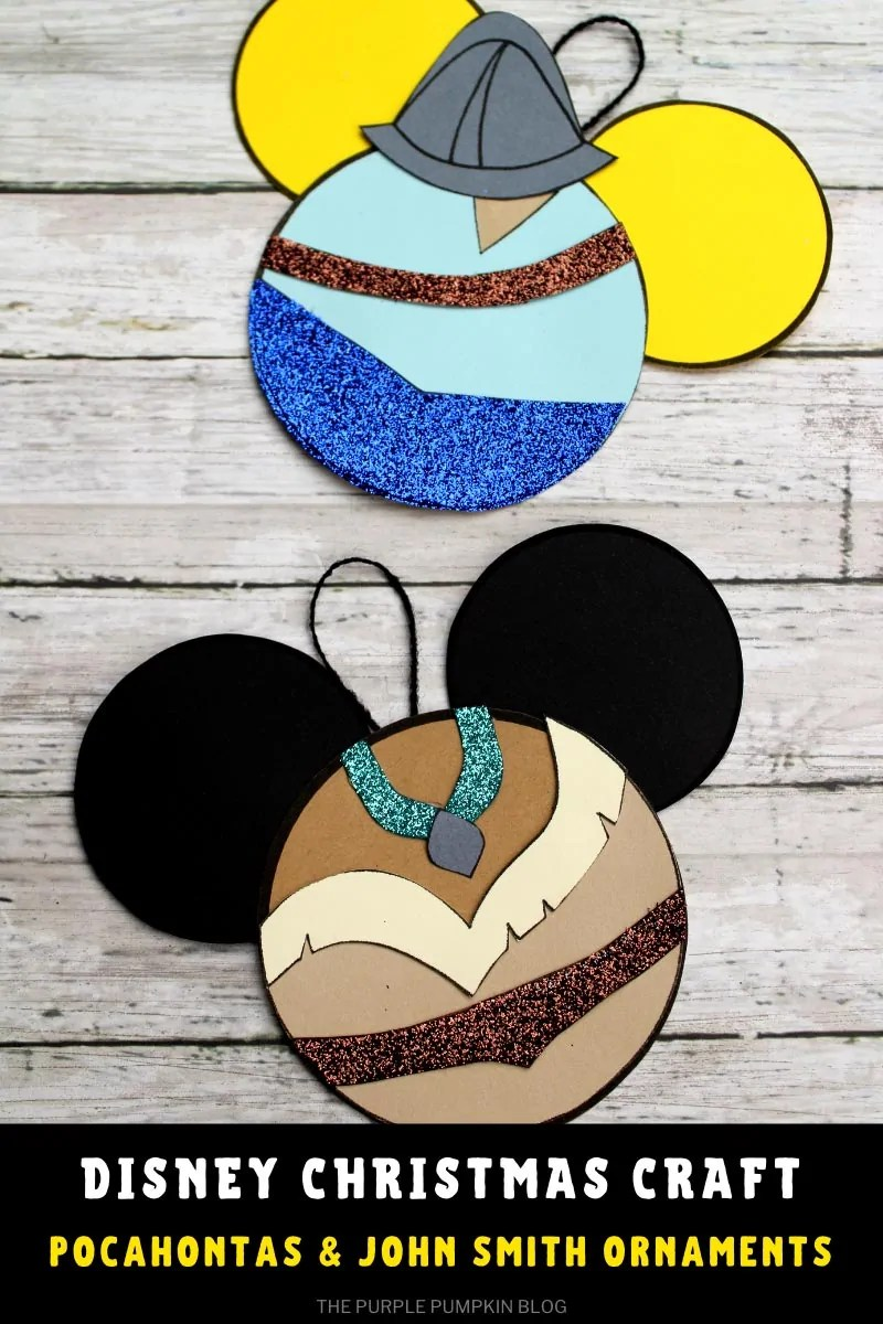 Disney Christmas Craft Pocahontas & John Smith Ornaments