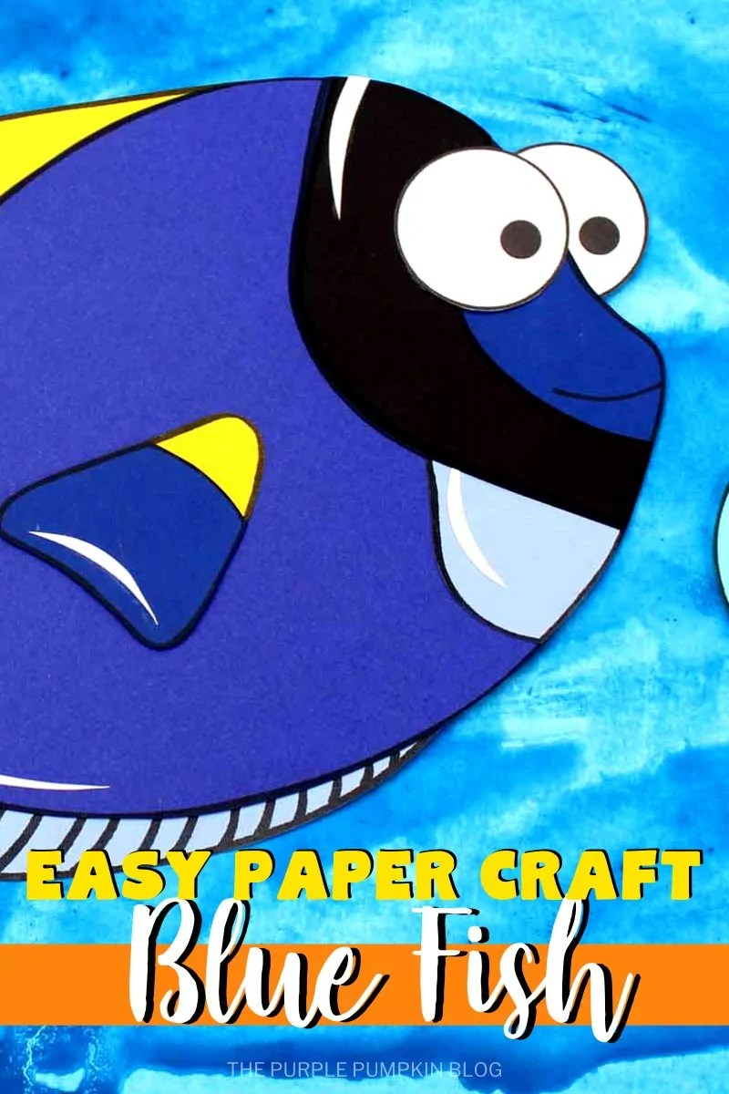 Easy Paper Craft Blue Fish