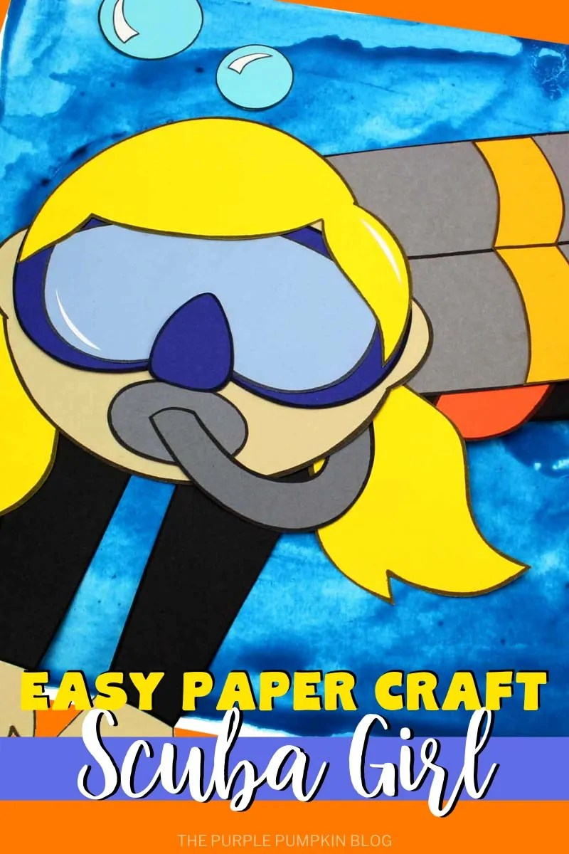 Easy Paper Craft Scuba Girl