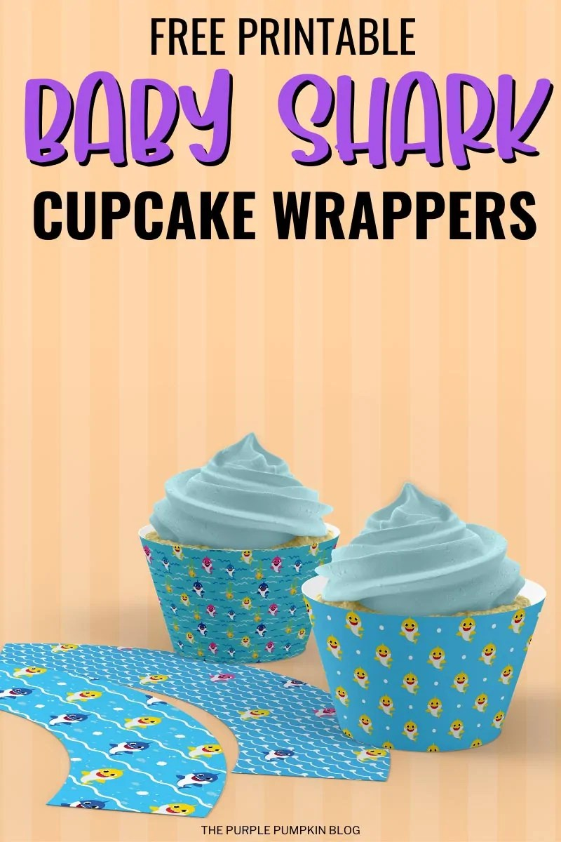 Baby Shark Cupcake Wrappers