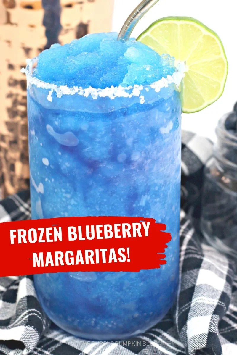 Frozen Blueberry Margaritas