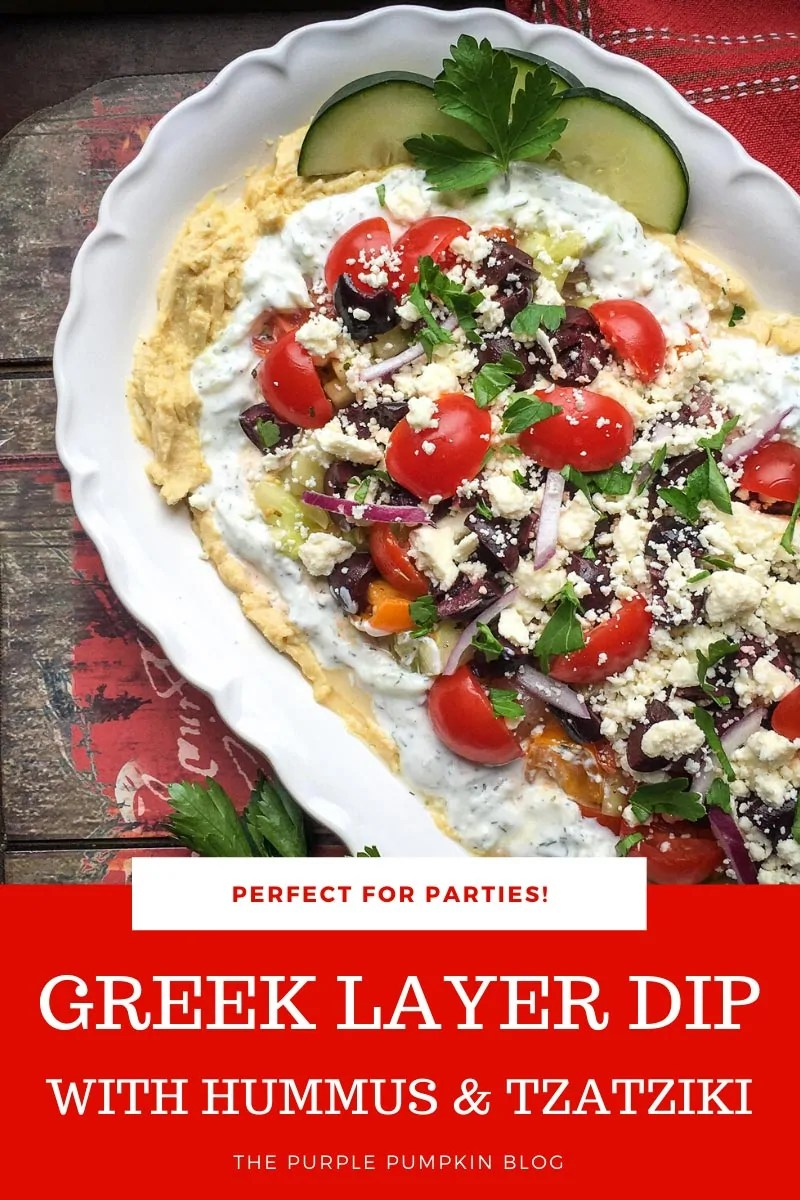 Greek Layer Dip with Hummus & Tzatziki