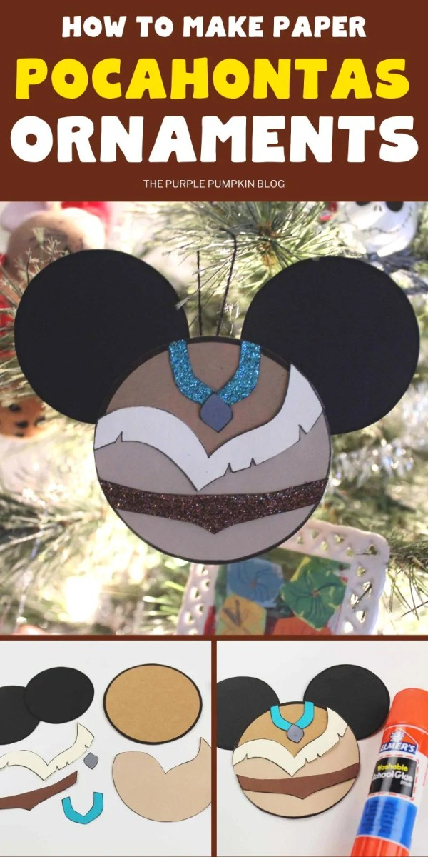 Pocahontas Paper Disney Ornaments