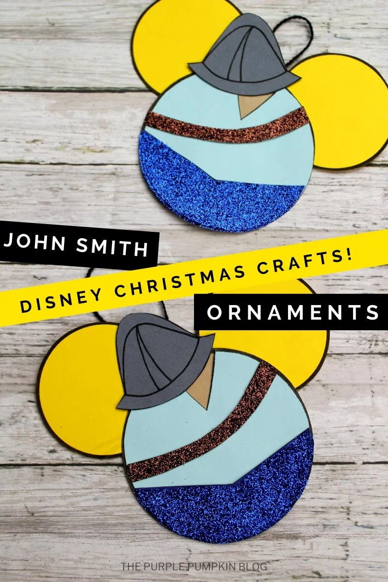 John Smith Disney Christmas Crafts Ornaments