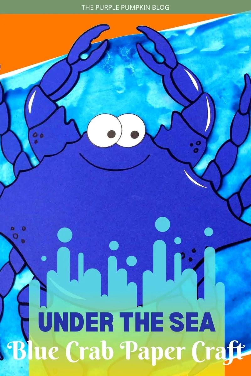 Under the Sea Blue Crab Paper Craft