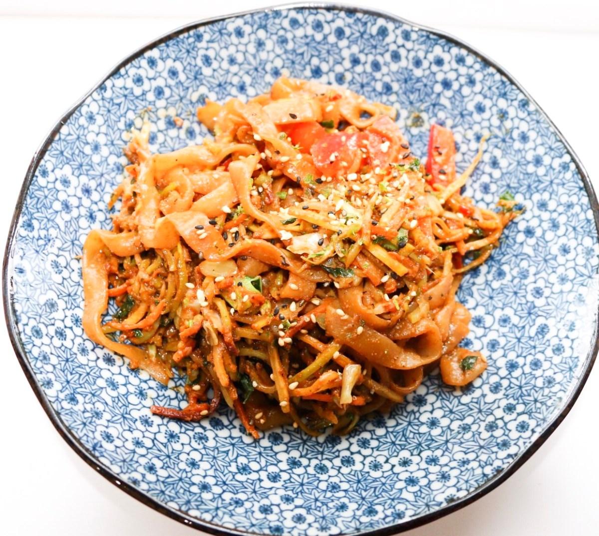 low carb keto pad thai noodles  the pursuit of joy
