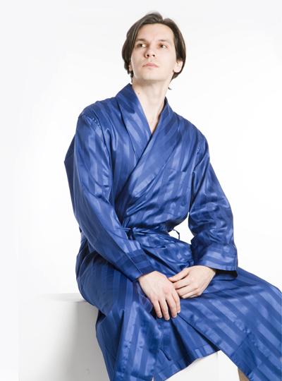 Blue  Satin  Robe