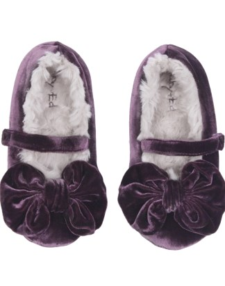 GIRLS DUSTY PLUM SLIPPERS