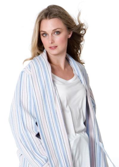 Pastel Striped Robe