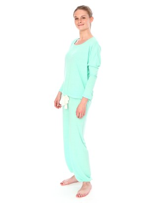 Mint Slouchy Tee and Pants Set