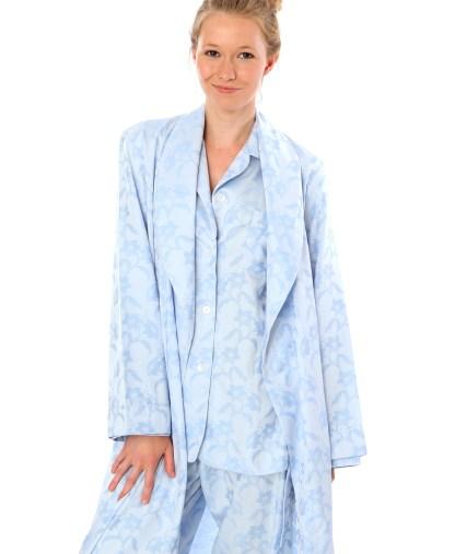Sky Blue Damask Robe