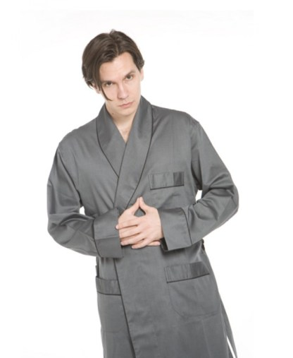 Charcoal Finesse Robe