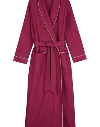 Mulled Wine Brushed Cotton Gown