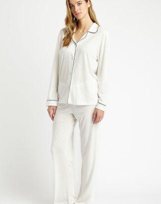 Cream Jersey Pyjamas
