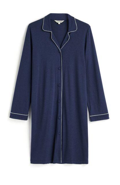 Midnight Navy Blue Jersey Nightshirt