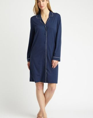 Midnight Navy Blue Jersey Nightshirt