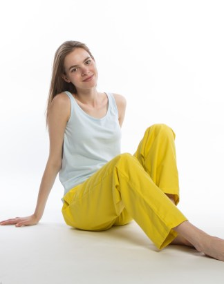 Jimbles Women's Awesome Yellow Brushed Cotton PJ Bottoms