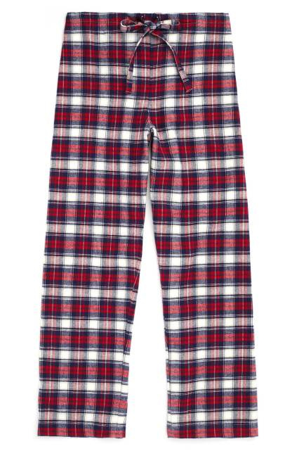Stewart Plaid Brushed Cotton Trousers