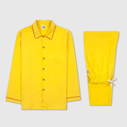 Men's Yellow  Jim Jams with Red Piping