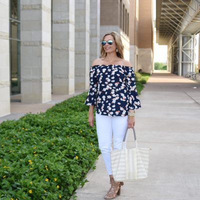 Off the Shoulder Floral + Ageless Style Linkup