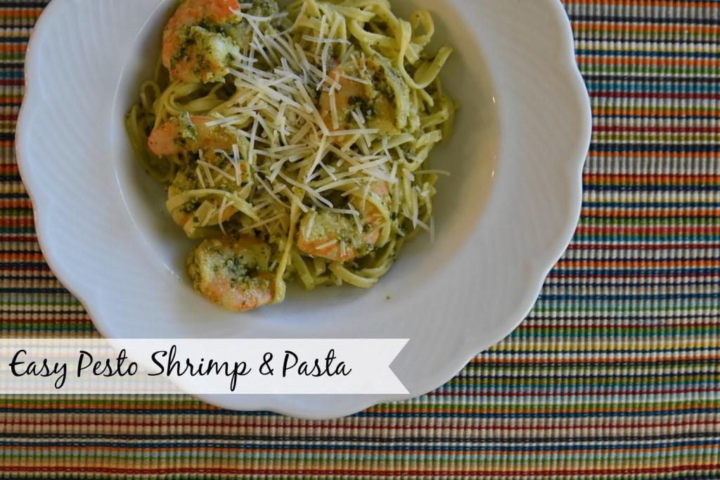Pesto Shrimp & Pasta - The Queen in Between