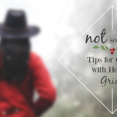 Not So Merry   Tips for Coping with Holiday Grief