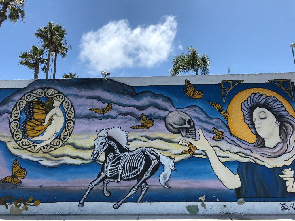 Side of the Pour House bar in Oceanside, CA.
