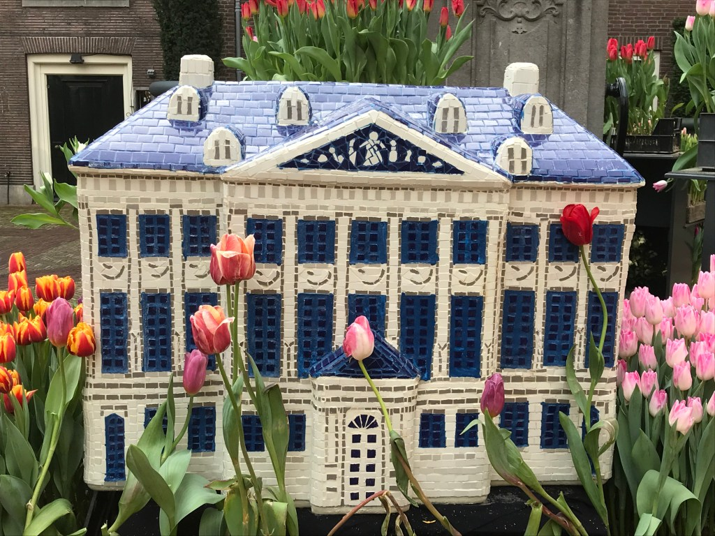 This replica of The Grand Amsterdam Hotel was ceramic and part of the display out in the entry courtyard.