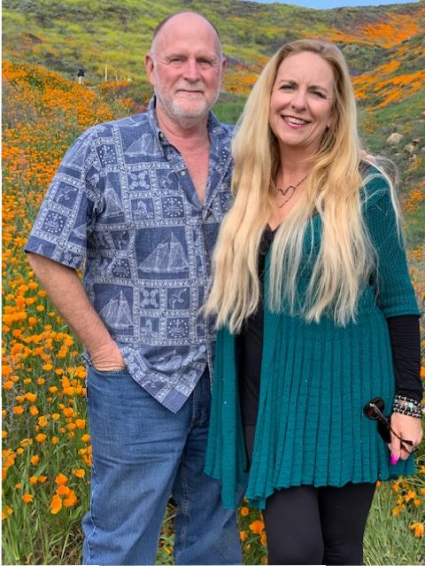 "Don and Me, taking time to ""smell the flowers"" on one of our Date-Daytions!"