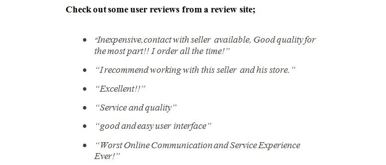 Aliexpress customers review