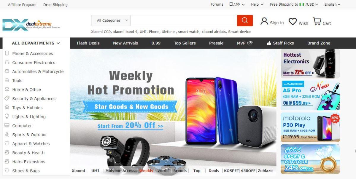 Best cheap online shopping sites - DealExtreme