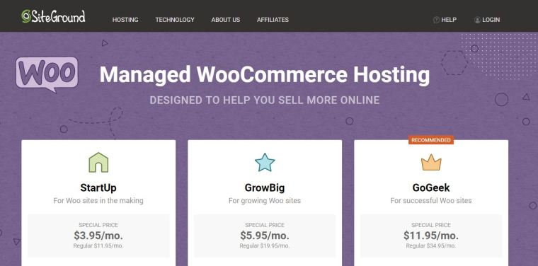 Siteground - Best WooCommerce Hosting