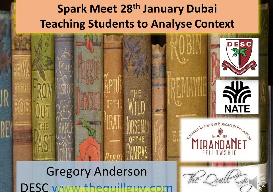 Teaching Comparative Contextual Analysis in Literature: Spark Presentation January 2017