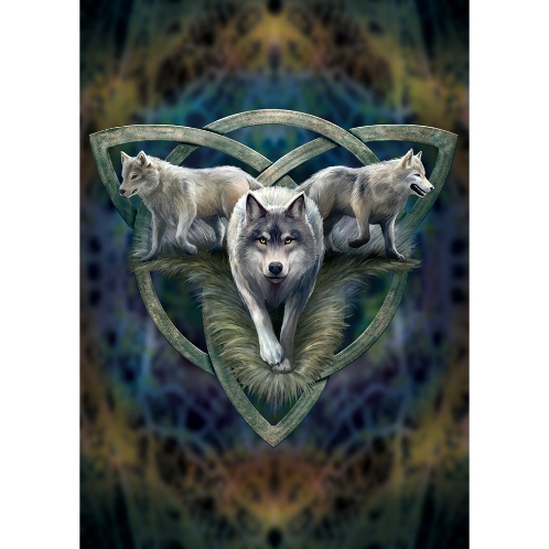 Wolf Trio Card Anne Stokes Greetings Card Wolf Card