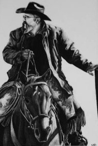 Mr. Jimmy- This is a drawing that I did in high-school and won the American Quarter Horse Art show in the high-school age category.