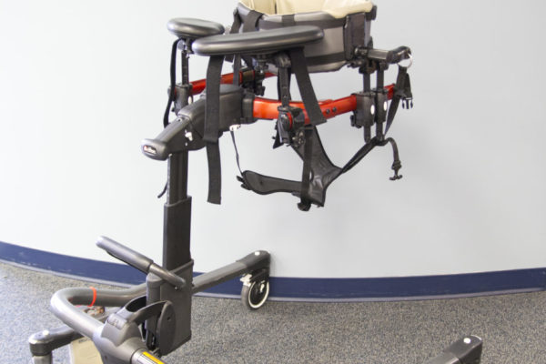 This offers the same benefits as the Pacer and also gives the patient the ability to walk supported over the treadmill with the wide base frame.