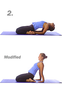 Yoga: Reclining hero pose 2